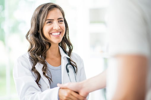 medical doctor shaking hands medical/healthcare